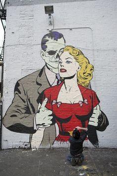 creative and comic street art.