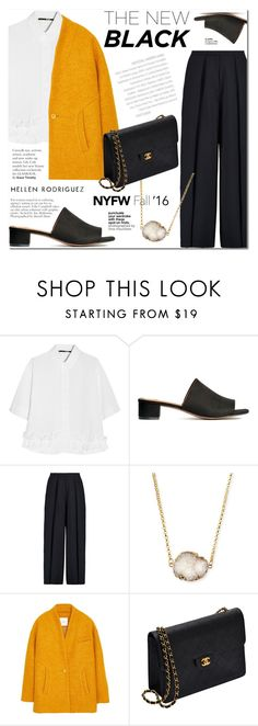 """""""PaGe 11/11"""" by lali22 ❤ liked on Polyvore featuring McQ by Alexander McQueen, Iris & Ink, Jules Smith, MANGO and Chanel"""