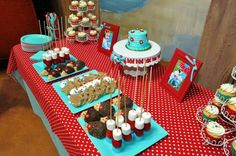 Aqua & Red Hedgehog Party! Birthday Party Ideas | Photo 7 of 26 | Catch My Party