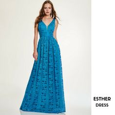 ESTHER  Long lace dress  CODE: 94171
