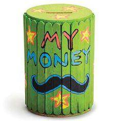 Craft Stick Barrel Bank Craft Kit  - Makes 25