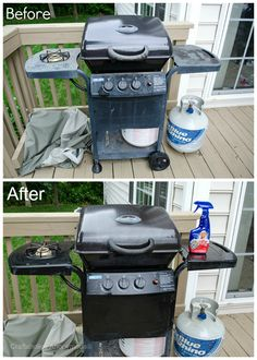 How to make your grill look new again. Wouldn't it be fun to surprise Dad with a clean grill?