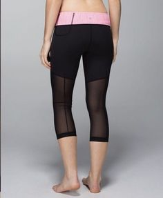 5501f874d5 LULULEMON Breathe Easy Wunder Under Crop Sz 6 Black Pink Yoga Running  #fashion #clothing