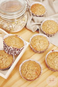 Discover recipes, home ideas, style inspiration and other ideas to try. My Recipes, Sweet Recipes, Vegan Recipes, Dessert Recipes, Cooking Recipes, Desserts, Oatmeal Muffins, Pan Dulce, Muffin Cups