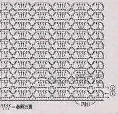 Punto Crochet Calado #1 | Crochet y Dos agujas
