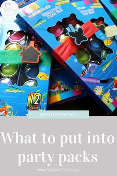 Are you planning a kids birthday party but not sure what to put in the party packs? The answers are all in this post. Kids Party Themes, Diy Party Decorations, Birthday Party Themes, Birthday Ideas, Party Ideas, Elmo Birthday, Mexican Party, Party Packs, Childrens Party