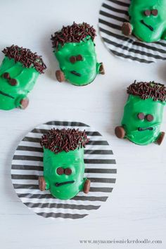 Frankenstein Cookies | Halloween Party Treats