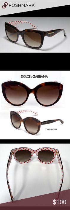New Authentic Dolce & Gabbana sunglasses DG4227 - 2872/13Model: WomenFrame material: AcetateFrame colour: Havana Brown - WhiteLens colour: Brown GradientUV protection: 2Branded glass case Dolce Gabbana Dolce & Gabbana Accessories Sunglasses