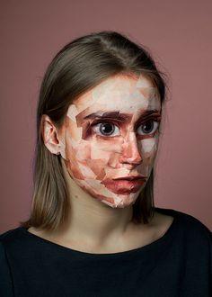 woman female face by olya o