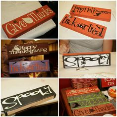 Crafts reDesigned: Reversible Fall Wood signs