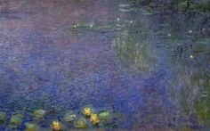 Клод Моне - Water Lilies, Morning (right-center detail), 1920-26. Клод Оскар Моне