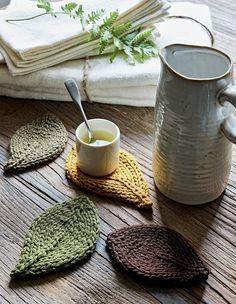 Tricoter des dessous de tasses pour une pause nature!