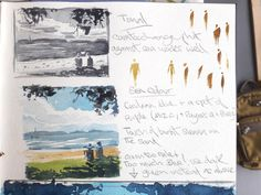 Working out tonal values and contrast in in this beach scene from my watercolour sketchbook #watercolor #paintingtutorial #watercolorarts #acuarelas #watercoloring #howtopaint Watercolor Paintings Nature, Watercolor Tips, Watercolor Sketchbook, Watercolour Tutorials, Seascape Paintings, Watercolor Techniques, Landscape Paintings, Watercolours, Beach Sketches