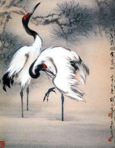 Japan Painting, Ink Painting, Watercolor Paintings, Flower Art Images, Art Chinois, Art Asiatique, Art Sculpture, China Art, Korean Art