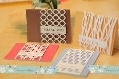 Thank You Card Overlay SVG Files ... white lacy panel to top bright colored cards ... available on Etsy ...