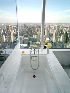 A bath with a view...