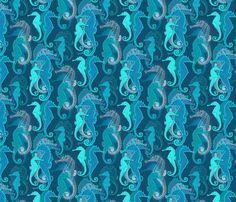Spoonflower Design Challenge voting: Bucketfeet Aquatic Animals