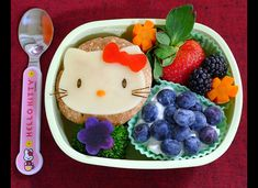 Hello Kitty Bento Box Lunch  http://www.huffingtonpost.com/2012/08/01/back-to-school-bento-box-lunches_n_1730487.html#slide=1318111