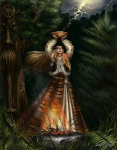 Breska, deusa eslava anciã do clima dos sonhos e da magia
