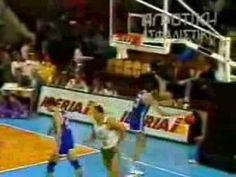 Giannakis -GREECE(38 pts) VS Oscar Schmidt-BRAZIL (36 pts)--- FIBA Basketball World Cup 1990 Argentina