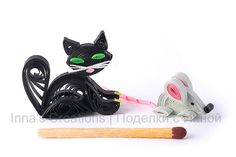 Quilled cat and mouse