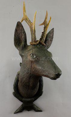 antique black forest carved wood deer head Wood Deer Head, Deer Heads, Black Forest Wood, Dappled Light, Deer Art, Animal Heads, Wood Carvings, Carved Wood, Designers