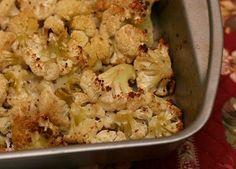 roasted golden cauliflower with panko and pecorino