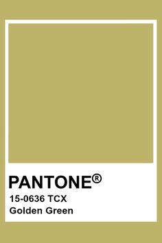 Pantone Golden Green