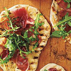 Grilled Pizza with Prosciutto, Arugula, and Lemon Recipe | MyRecipes.com