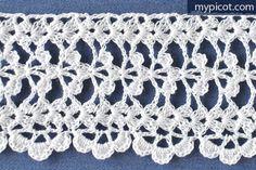 "MyPicot HOME WORK Free Pattern h022.pdf (Downloaded - SLT) Crochet patterns from ""HOME WORK"", ROSE PUBLISHING CO. (LTD.), 1881 ""Clover Leaf Edge No. 40"""