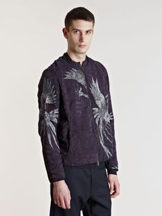 By Walid Men's Antique Embroidered Silk Kimono Jacket | LN-CC