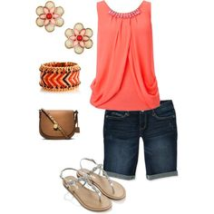 A coral touch outfit