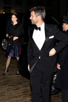 Danish royal family banquet: Crown Prince Frederik and Crown Princess Mary 11/5/2013