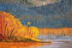 Alder Lake Landscape Painting by Nancy Merkle; Original and Fine Art Reproductions