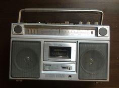 Vintage YORX K6061 AM/FM Cassette 8-Track Tape Portable Stereo BOOMBOX
