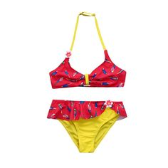 34012236d3d12 Roiper Baby Swimwear, Infant Kids Girls Bird Flower Swimwear Swimsuit  Bathing Bikini Set Outfits (