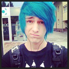 blue nova Emo kain hair