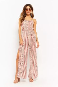 Product Name:Abstract Print Jumpsuit, Category:dress, Price:38
