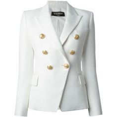 BALMAIN Structured Double Breasted Blazer