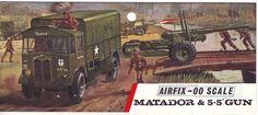 Airfix Matador and 5.5inch Gun