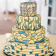 Art Deco Watercolor Cake