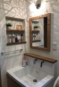 Tiny Bathrooms, Bathroom Spa, Downstairs Bathroom, Bathroom Renos, Bathroom Interior, Small Bathroom, Bathroom Mirror Cabinet, Mirror Cabinets, Sweet Home Design
