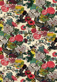 Fabric | Chiang Mai Dragon in Alabaster | Schumacher