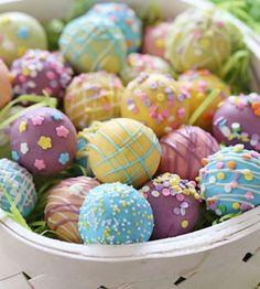 Click Pic for 35 Easter Dessert Recipes - Skinny Easter Egg Cake Balls - Easter Food Ideas