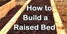 How to Make a Simple Raised Garden Bed: http://homeandgardenamerica.com/how-to-make-a-simple-raised-garden-bed