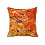 Autumn Maple Leaves throw pillow for living room decor accent