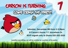 Angry Birds Birthday Invitation Template Free
