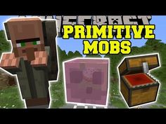 Minecraft: PRIMITIVE MOBS MOD (TREASURE SLIMES, EVIL CHESTS, & TRAVELING MERCHANTS!) Mod Showcase - YouTube Minecraft Mods, Mini Games, Best Places To Travel, Primitive, Anime, Traveling, Crafting, Icons, Youtube