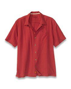 Tommy Bahama - Island Modern Fit Sand Crest Stripe Camp Shirt
