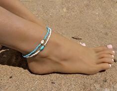 Shell Schmuck, Diy Schmuck, Foot Bracelet, Anklet Bracelet, Shell Jewelry, Beach Jewelry, Hippie Jewelry, Tribal Jewelry, Ankle Jewelry